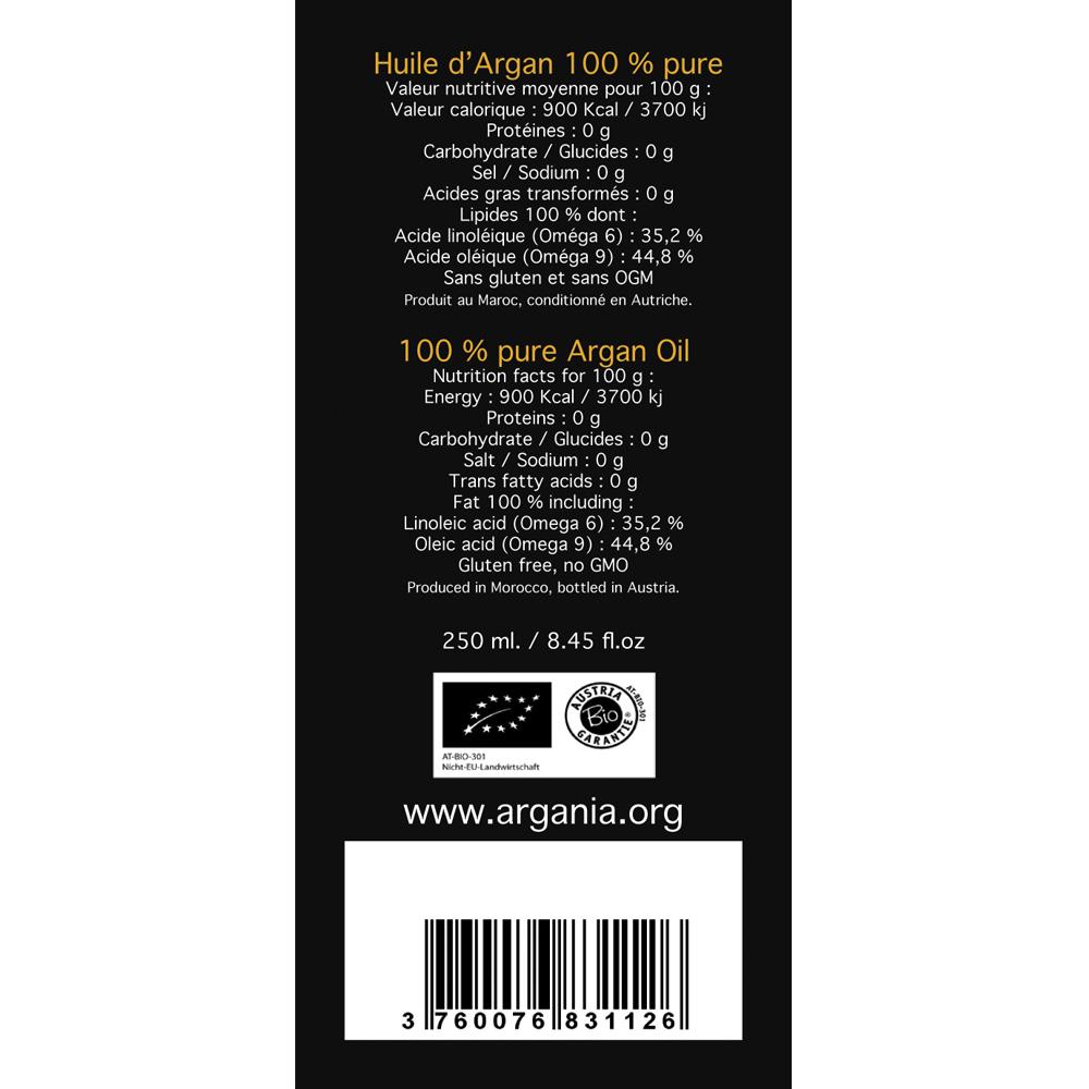 Organic Argan Oil 250ml   Argania - La